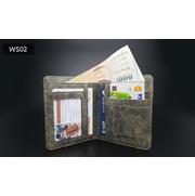 WS02 แนวตั้ง กระเป๋าสตางค์ใบสั้น กระเป๋าสตางค์ผู้ชาย ผ้าแคนวาส > WS02-Gray แนวตั้ง กระเป๋าสตางค์ใบสั้น กระเป๋าสตางค์ผู้ชาย ผ้าแคนวาส สีเทา