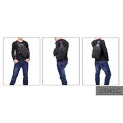 CV02-Black กระเป๋าสะพายไหล่ ผ้าแคนวาส สีดำ
