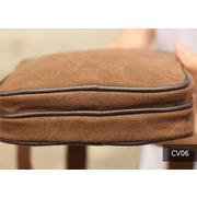 CV06-Black กระเป๋าสะพายข้าง ผ้าแคนวาส สีดำ