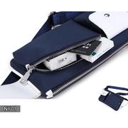 NY01-Black กระเป๋าคาดอก ผ้าไนลอน สีดำ