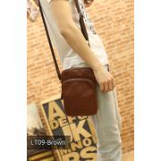 LT09-Brown กระเป๋าสะพายข้าง หนัง PU สีน้ำตาล