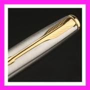 ปากกาลูกลื่น parker รุ่น Sonnet Stainless Steel Gold Trim Ball แหนบทอง ปลายปากกาทอง MADE IN FRANCE ของแท้