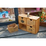 Old wooden storage box grocery inventory | ลิ้นชัก 4 ช่อง > สีไม้ธรรมชาติ