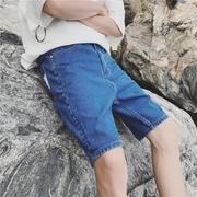 กางเกงยีนส์ ขาสั้น > สีฟ้าปล่อยชายกางเกง
