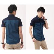 เสื้อเชิ๊ต แขนสั้น > สีฟ้า