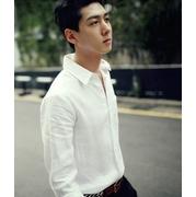 เสื้อเชิ๊ต แขนยาว สีขาว แฟชั่นเกาหลี