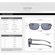 MERRYSTORE แว่นกันแดด รุ่น MSP398 Gold frame Black lens