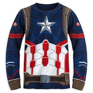 ชุดนอนเด็ก กัปตัน อเมริกา Captain America Costume PJ PALS for Boys - Captain America: Civil War > ชุดนอนเด็ก กัปตัน อเมริกา ไซส์ : 8 ปี Captain Americ