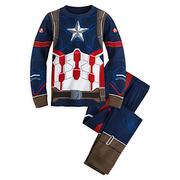 ชุดนอนเด็ก กัปตัน อเมริกา Captain America Costume PJ PALS for Boys - Captain America: Civil War > ชุดนอนเด็ก กัปตัน อเมริกา ไซส์ : 10 ปี Captain Ameri