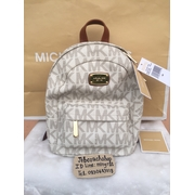 ef4c919d1542 ... reduced michael kors jet set xs extra small signature backpack vanilla  9ae33 1b001