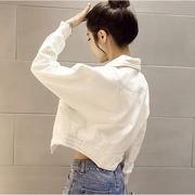 แจ็คเก็ตยีนส์สีขาว 2017 สไตล์เกาหลี  ( รอสินค้า 15-20 วัน )