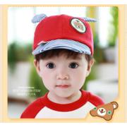 หมวกแก๊ป หมวกเด็กแบบมีปีกด้านหน้า ลายหมีน้อย (มี 4 สี) > สีเหลือง