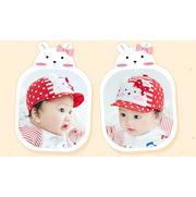 หมวกแก๊ป หมวกเด็กแบบมีปีกด้านหน้า ลายหมีผูกโบว์ (มี 4 สี) > สีแดง