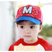 หมวกแก๊ป หมวกเด็กแบบมีปีกด้านหน้า ลาย M-มิกกี้ (มี 4 สี) > สีน้ำเงิน