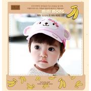 หมวกแก๊ป หมวกเด็กแบบมีปีกด้านหน้า ลายลิงน้อย (มี 3 สี) > สีชมพูอ่อน