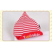 หมวกแก๊ป หมวกเด็กแบบมีปีกด้านหน้า ลายขวาง Twinkle (มี 5 สี) > สีชมพู