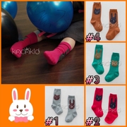 SK095••ถุงเท้าเด็ก•• หมี มี 4 สี (ข้อยาว) > SK095 #1 - เทา