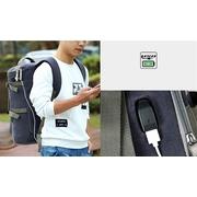 กระเป๋าเป้ Canvas IOZO 3 in 1 Extra USB (สีน้ำตาล)