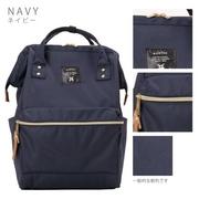 กระเป๋าเป้ Anello Canvas Navy (Standard) ผ้าโพลีเอสเตอร์ กันน้ำ