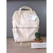 กระเป๋าเป้ Anello Leather white (Standard) หนัง PU กันน้ำ