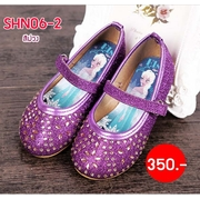 SHN06-2 รองเท้าเจ้าหญิง สีม่วงประดับเพชร เปล่งประกาย > SHN06-2 รองเท้าเจ้าหญิง สีม่วงเข้มประดับเพชร ไซส์ 27