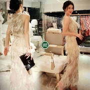 * Versace Dress เดรสขนนก ดีเทลเนื้อผ้า Poly 100% *