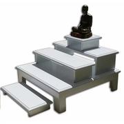RELUX โต๊ะหมู่บูชาไม้หนา พ่นสีขาวอะคลิลิคอย่างดี 5 ชิ้น # BUD-5 สีขาว