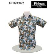 เสื้อ Cotton แขนสั้น Size XL > เสื้อ Cotton แขนสั้น ดอกชบาใบสดควิกซิเวอร์ สีกรมขาว Size XL