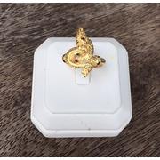 แหวนพญานาคพลอยนพเก้า เรือนทองแท้ พลอยนพเก้าแท้ เพชรแท้