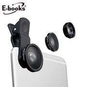 [TAITRA] E-Book N46 3 อิน 1 ชุดเลนส์กล้องมุมกว้างอลูมิเนียมอัลลอย เลนส์กล้องขนาดใหญ่
