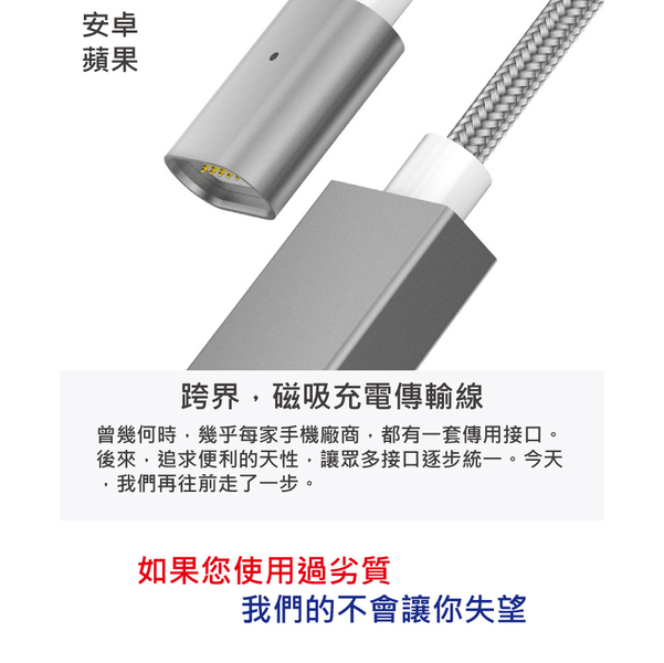 (Moizen)Micro USB Magnetic Charging Transmission Line 100cm