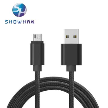 (SHOWHAN)SHOWHAN Micro USB charging knitting data transmission line (25cm) Black