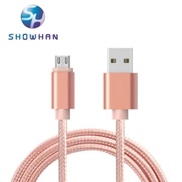 (SHOWHAN)SHOWHAN Micro USB charging knitting data transmission line (1M) Rose Gold