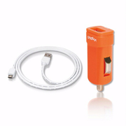 (VogDUO)VogDUO [PK115] Mini USB Car Charger Kit (flat type)