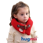 (hugmii)[Children] hugmii monochrome horn buckle warm neck around _ red ladybug