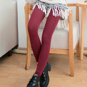 (Olivia)[Olivia] bristles inside velvet leggings warm / warm Leggings / Pants - burgundy color 7