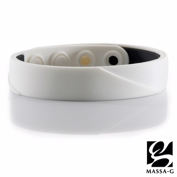 [TAITRA] MASSA-G【ARC Solo-White】Germanium Titanium Wristband