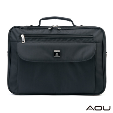 [TAITRA] AOU Simplicity City Classic Water-Resist Briefcase, Special Design to Place onto The Suitcase, Fit on The Handle of Suitcase (Black) 948