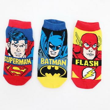 [TAITRA] DKGP X - Justice League - Brand Version - Superman / Batman / Flash - Adults' Ankle Socks - Parent-Child Matching Socks - 3 Pairs