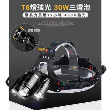 [TAITRA] 【SOLAR】Flagship Model T6 Tri-Head Powerful Adjustable Focus Head Light