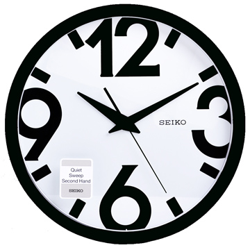 (SEIKO)【SEIKO】 Art Design Wind Slide Second Hand Silent Clock Wall Clock -31.1cm (QXA476A)