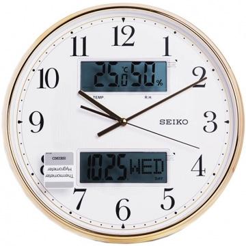 (SEIKO)【SEIKO】 gold light perception dual display function silent clock wall clock (QXL014G)