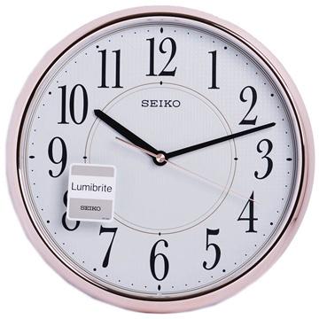 (SEIKO)SEIKO Seiko luminous rose gold light sense bell clock wall clock (QXA671P)