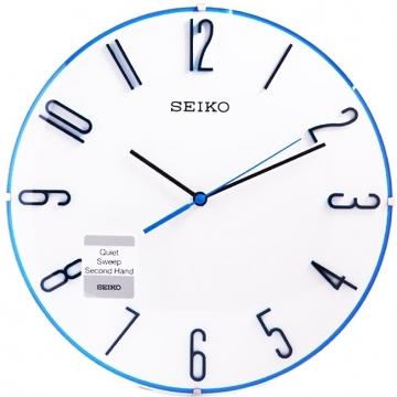 (SEIKO)[SEIKO] Seiko Mediterranean rimless hour markers mute clock wall clock (QXA672W)