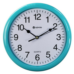 [TAITRA] 【KINYO】 Wall clock model, smooth, small size 8 inch (CL-108)