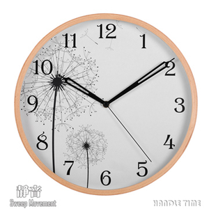 [TAITRA] 『HANDLE TIME』 Wall clock, wood frame, quiet, dandelion pattern