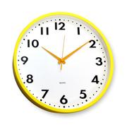 [TAITRA]  [Desrocher] นาฬิกาติดผนัง กรอบสีเหลืองฟางหญ้า