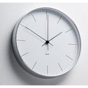 [TAITRA]  [Desrochers] นาฬิกาติดผนังดีไซน์คลาสสิค สีเงินขาว 20ซม.
