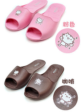 ((e鞋院) 麻吉貓元氣滿點環保拖鞋)(E shoe hospital) Ma Ji cat full of environmental protection slippers