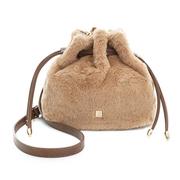 (PLAYBOY)PLAYBOY-small Bucket Bag small fashion series - temperament apricot